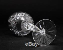 Set of 8 Waterford Cut Crystal Lismore Wine Hock 7-3/8 Tall Old Gothic Mark