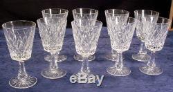 Set of 9 Waterford Crystal Wine Water Stemware Ireland