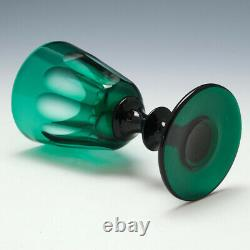 Set of Four Bristol Green Wine Glasses c1835