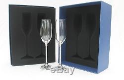 Set of Swarovski Crystal Filled Stem Glasses 2 Champagne Flutes 2 Wine Glasses