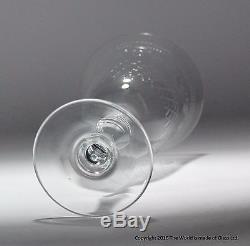 Set of six Pall Mall/Lady Hamilton pattern large wine glasses