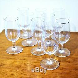 Set of vintage Baccarat Crystal Claret Wine Glasses Stems Perfection pattern