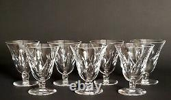 St Louis Crystal Beautiful Cut Wine Glasses Set of 7 SIGNED