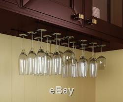 Stemware Wine Glass Rack Cabinet Bottle Holder Kitchen Home Bar Hanger 18 Pc Set