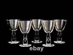 Steuben Crystal #7980 Teardrop Wine Glasses Vintage Set of 5