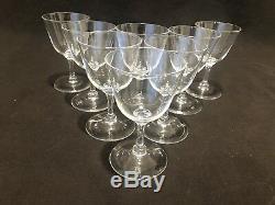 Steuben Glass Wine Glasses 4 3/4 Set of 8 Simple Elegant Signed S VINTAGE