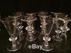 Steuben Trumpet White Wine Glasses, Set of 12