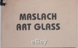 Steven Maslach Signed Vernal Art Glass Set Of 11 Wine Goblets New Unused