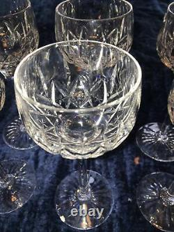 Stuart Crystal Glencoe Hock Wine Glass 7 1/2 set of 6 glasses