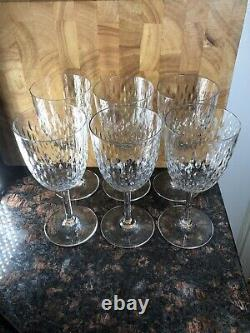 Stunning Set 6 Crystal Baccarat PARIS Stemware Glasses Wine Or Water