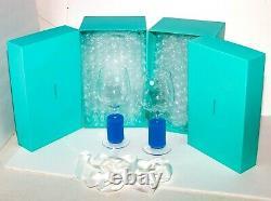 TIFFANY & CO. NEWWine Crystal Glass GobletOriginal Blue BoxesSet 2Slovenia
