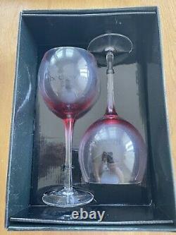 The Crow set of 2 Wine Glasses Neca
