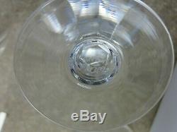Thomas Webb Crystal Yacht Cut Claret Wine Glasses Set Of 6 4 7/8 Tall