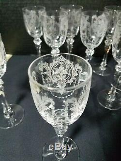 Tiffin 15074-3 8 Wine Cordials 3 Oz set of 8 elegant etched fancy stem