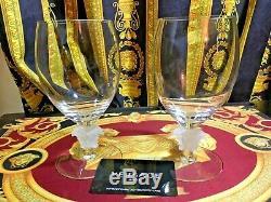 VERSACE WINE MEDUSA GLASS SET OF 2 BEER BRANDY ROSENTHAL NEW BEST Wedding GIFT