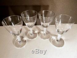 VINTAGE Lalique Crystal GUEBWILLER (1926-) Set of 4 Sherry Wine Glasses 4 3/8