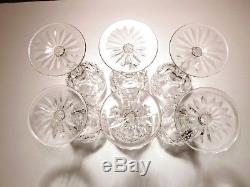 VINTAGE Waterford Crystal POWERSCOURT (1968-) Set of 6 Wine Hocks 7 1/2 7 oz