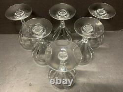 VTG Baccarat Genova Red Wine Goblet Glasses Set of 6 Crystal France 6 Tall