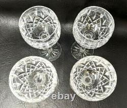 VTG Waterford Crystal Set of 4 Lismore Balloon Wine Hock Glasses Goblets GZ20