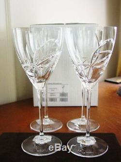 Vera Wang Wedgwood LOVE KNOTS Wine Glasses Goblets Crystal SET / 4 NEW / BOX
