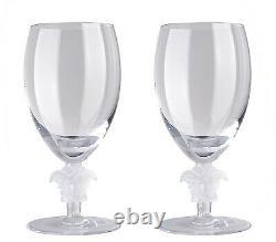 Versace Rosenthal Medusa Lumiere 2nd Edition Set 2 Pcs White Wine Glasses