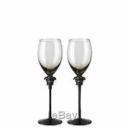 Versace Rosenthal Medusa Lumiere Haze Set 2 Pcs White Wine Glass