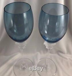 Versace Rosenthal Medusa Lumiere Long Stem Wine Glasses Set of 2