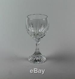 Vintage BACCARAT Crystal MASSENA Pattern 5 7/8 BORDEAUX WINE GLASSES SET OF 7