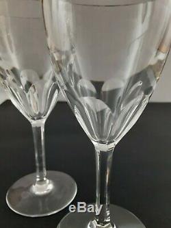 Vintage Baccarat Crystal Genova Port Wine Glasses (set of 2) 6-1/2- Excellent