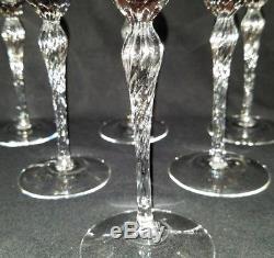 Vintage Set 6 Lenox Madison Platinum Rim Crystal Wine Glasses 7 5/8 Ex Cond