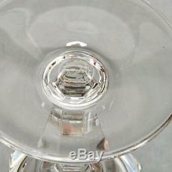 Vintage Set Of 6 Baccarat Crystal Polignac Claret Wine Glasses, Signed