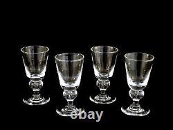 Vintage Steuben Crystal #7877 Teardrop Wine Glasses Set of 4