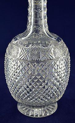 Vintage Stourbridge Crystal Round Decanter & Set of 6 Wine Glasses Stunning