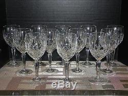 Vtg 12 Piece 7 5/8 Gorham Full Lead Crystal Water Wine Goblets Set Lady Anne