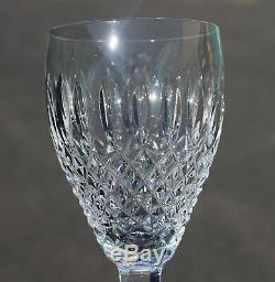 Vtg Waterford Crystal Castlemaine Glass Wine Champagne 7 3/8 Stem Flute Set 6