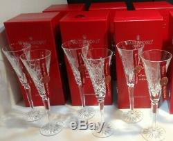 WATERFORD CRYSTAL 12 DAYS of CHRISTMAS TOASTING FLUTES SET 1-6
