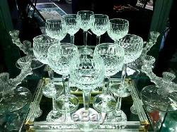 WATERFORD Crystal Balloon Hock Wine Glass COLLEEN Set of 5 RARE Stem Footed 7.5