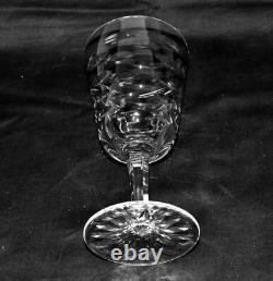 WATERFORD Crystal Set of 6 Claret / Red Wine Glasses TRALEE Excellent