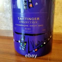 WS 94 pts! 1983 Taittinger Collection da Silva Brut Champagne with Glass Set