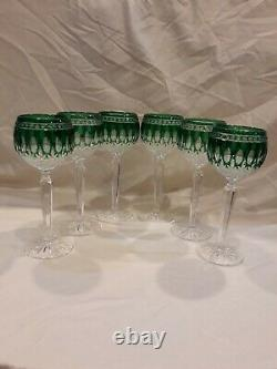 Waterford Clarendon Emerald wine glasses. Set of 6. Used for display only