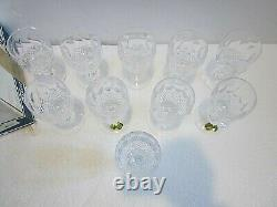 Waterford Colleen SET OF 10 White Wine Glasses, 4 1/2