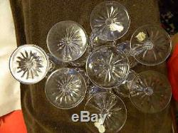 Waterford Comeragh set of 8 cut crystal 7 1/4 water wine hock balloon glasses