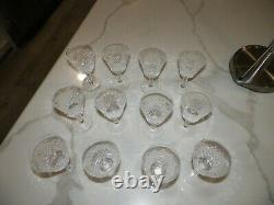 Waterford Crystal Alana Set Of Twelve (12) Wine Glasses