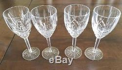 Waterford Crystal Araglin 10 ounce 7 7/8 goblet wine water (set of 4) MINT