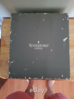 Waterford Crystal Clarendon Cobalt Blue Hock Wine Glass Goblet, signed set of 2