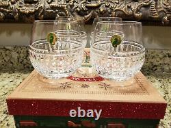 Waterford Crystal Cluin Bolton Stemless Red Wine Glasses NEW Set of 4