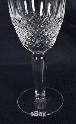 Waterford Crystal Colleen Tall Stem Wine Claret Glass Set Of 4 Signed