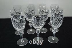 Waterford Crystal Curraghmore Claret Wine Glasses 7 1/8 Set of 11 FREE SHIPPING