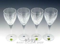 Waterford Crystal LISMORE NOUVEAU 8-3/4 WINE WATER GOBLETS Set of 4 Unused