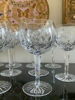 Waterford Crystal Lismore Balloon Oversized 7 3/4 High Wine Glasses Set of 10